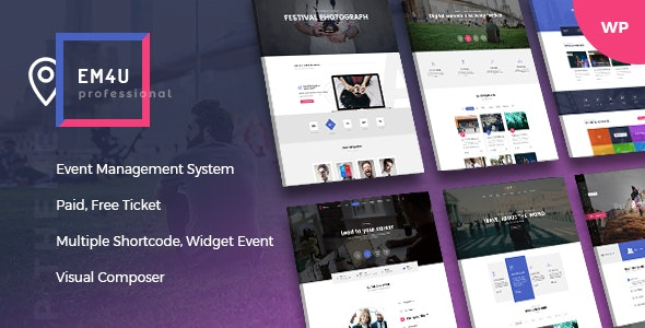 EM4U v1.3.8 – Events WordPress Theme for Booking Tickets – Nulled Scripts