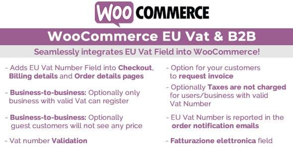 WooCommerce Eu Vat и B2B v.10.5 — Nulled WordPress плагин