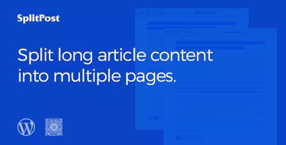 Epic Split Post v1.0.6 — Разделитель контента поста как слайдер