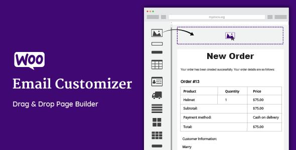 WooCommerce Email Customizer с drag&drop v1.5.16 — плагин WordPress