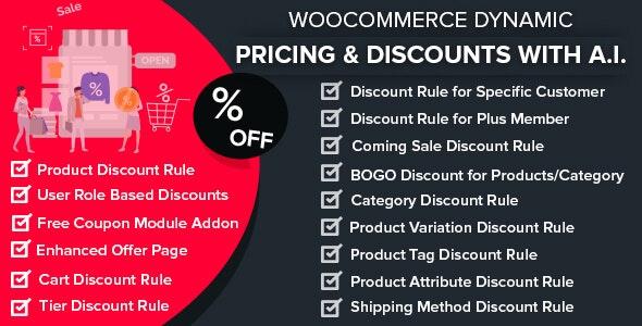 WooCommerce Динамические цены и скидки AI v1.5.2 — плагин WordPress (Nulled)